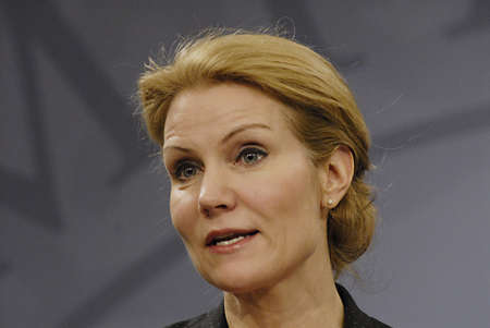 helle thorning schmidt: Copenhagen  Denmark.Ms.Helle Thoirning-Schmidt danish prime minister holds her weekly press conference at Mirror Hall Chfristiansborg and high light danish state school reform this is new that Enbglish language start from 1st.class ind danish public scho Editorial