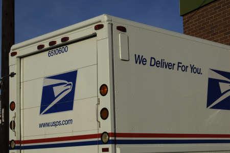 usps: LEWISTONIDAHO STATE USA _United states postal service truck 17 Jan 2013