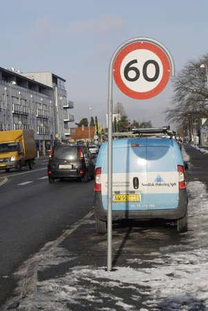 KASTRUP/COPENHAGEN/DENMARK _  60 kilometr an haoaur speed limit on Amagerlandvej in Kastrup 25 Jan 2013         Stock Photo - 17713392