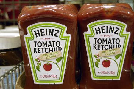 stared: KASTRUPCOPENHAGENDENMARK _ Heinz Tomato Ketchup organic luomu stared 1969 is sell in Netto 17 February 2013