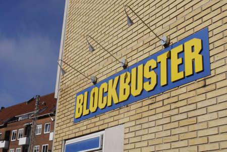 blockbuster: Copenhagen  Denmark.  Blockbuster film rental store 28 Feb 2013