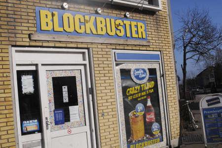 blockbuster: Copenhagen  Denmark.  Blockbuster film rental store 28 Feb 2013       Editorial