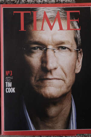 KASTRUPCOPENHAGENDENMARK _Time Cook  Apple CEO nr.3 on on  time magazine 10 March 2013