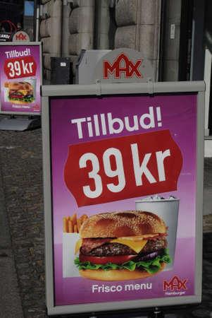 max: Copenhagen  Denmark. Max Hamburger new fast reataurant 14 March 2013