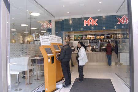 maschine: Copenhagen  Denmark. Max Hamburger new fast reataurant 14 March 2013         Editorial