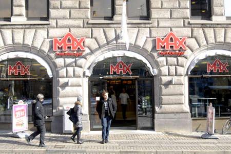 maschine: Copenhagen  Denmark. Max Hamburger new fast reataurant 14 March 2013