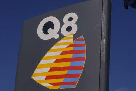 benzin: Copenhagen  Denmark. Q8 gasoline station from arab country Kuwait 11 March 2013