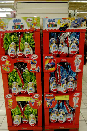 fash: SPELTZFRANCE  _French consumer doing easter shopping one the France super U food store today on 22 Marh 2013     Editorial