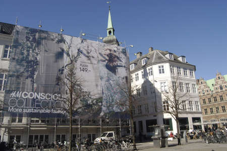 hm: Copenhagen  Denmark. Singer and celebrity on H&M billboard and her creation for H&M salling in stores in Copenhagen today 26 March 2013