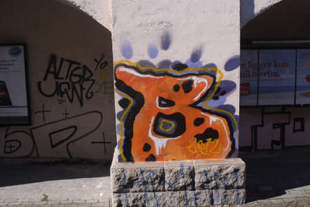 tog: Copenhagen  Denmark.(�sterport togstationen)Osterport train station is graffiti arts show case every stone and brick is painted with graffiti painting or arts some call it arts and other called vandlizing  these graffiti artists or painter come in darks