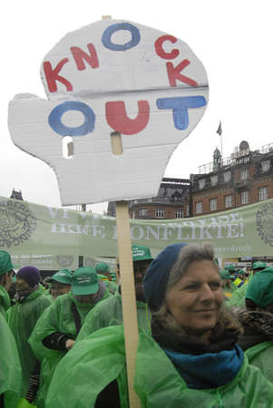 lockout: Copenhagen  Denmark. Many thuands locout teacher from whole Denmark come together in Copenhagen against Gorenmnent and Denmark counties association school reforms, teachers are lockout to teach ins chool without their saleries teacher want keep danish mo Editorial