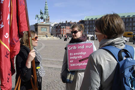 lockout: Copenhagen  Denmark.  Today is 24th day the danish teacher are lockout to teach in public and priavte school those are member of danish trade teacher union, teachers want government intervene now and also parents demond that government should find soluat