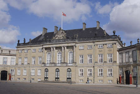 sq: Copenhagen  Denmark.   Amaliemborg palace  sq. and amalie park on sunday 28 April 2013