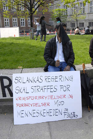 parliaments: Copenhagen  Denmark.-tamils society living in Denmark during protest rlly against Sri Lanka government  protest infront the dahish parliaments christiansborg 17 May 2013          Editorial