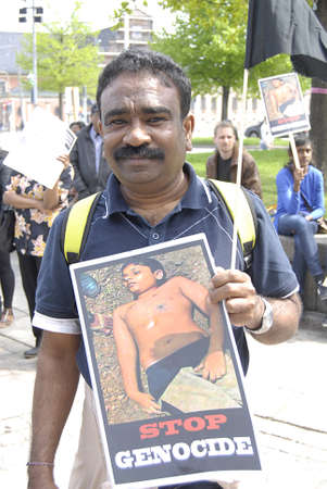 parliaments: Copenhagen  Denmark.-tamils society living in Denmark during protest rlly against Sri Lanka government  protest infront the dahish parliaments christiansborg 17 May 2013