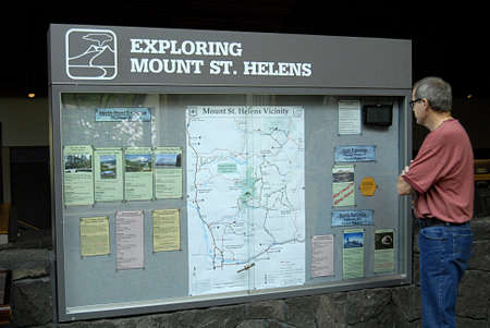 MOUNT ST.HELENS WASHINGTON STATE USA _ Mount St.Helens National Volcanic monument closed to public 28 May 2012