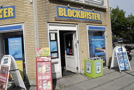 blockbuster: KASTRUPCOPENHAGENDENMARK _ Blockbuster chain in Kastrup Copenhagen 28 July 2013