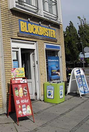kastrup: KASTRUPCOPENHAGENDENMARK _ Blockbuster chain in Kastrup Copenhagen 28 July 2013