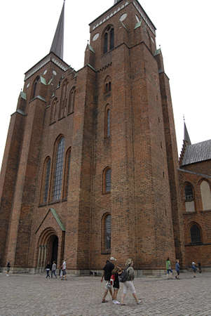 Roskilde  Denmark.  _Roskilde kirke or Roskilde cathedral 10 August 2013