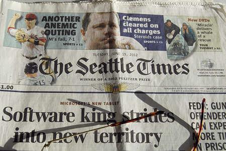 american media: Copenhagen  Denmark. The Seattle Times daily 11 August 2013