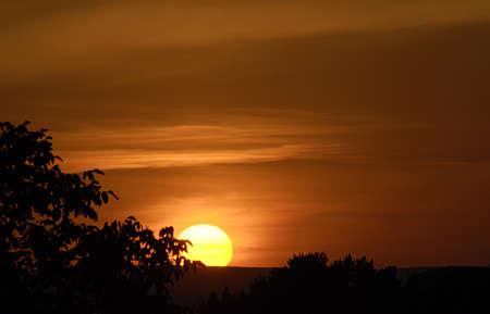 idaho state: Sunrise over Lewiston Idaho state  Valley