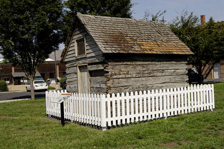 samuel: LEWISTONIDAHO STATE USA _Photo Feature, Relic of the Rustic Past said to date from the late 1860,this historic log cabin is Lewistons oldest surviving residence and once sat on 19th street between Main and G.Street.The first decumented owner was Samuel