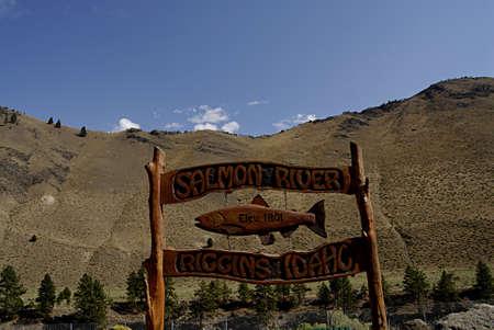 travler: RIIGGINS_SALMON RIVERIDAHO STATE USA _   13 SEPT. 2013   _Riggins mounts and salmon river area  Editorial