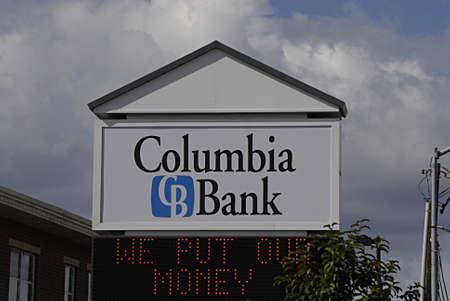 polictics: CLARKSTONWASHINGTON STATE USA _ Columbia bank building 23 sept. 2013