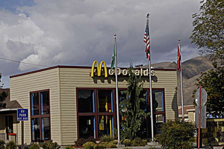 polictics: CLARKSTONWASHINGTON STATE USA _McDonalds fast food reataurant 23 sept. 2013