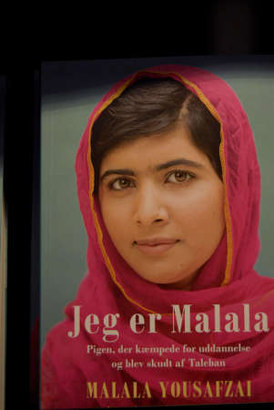 Copenhagen Denmark-  08  November  2013   _I am Malala or Jeg er Malala in danish tranlations at danish annual book fair  Bogforum in Bella Center        Editorial