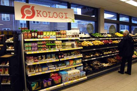 fakta: Kastrup Denmark-  11 November  2013_Organic food on sale at Fakta chain foor market
