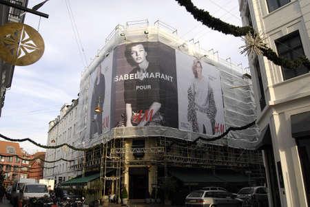 isabel: Kastrup Denmark-  14 November  2013   H & M  cloth billboard with Isabel Marant         Editorial