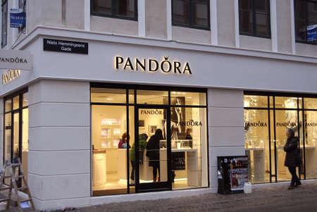 Copenhagen /Denmark-  18 November  2013     _Consumer in Pandora store on stroget      Stock Photo - 23817414