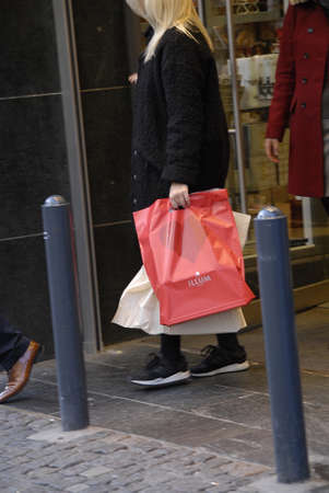 Copenhagen /Denmark-  17 November  2013   Consumer on early christmas shopping tour       Stock Photo - 23817424