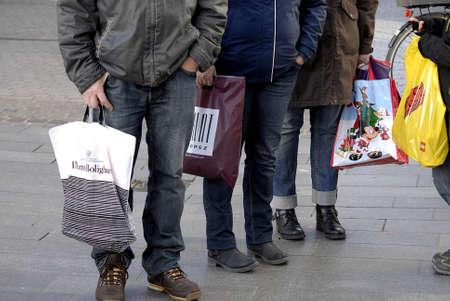 Copenhagen /Denmark-  17 November  2013   Consumer on early christmas shopping tour       Stock Photo - 23817425