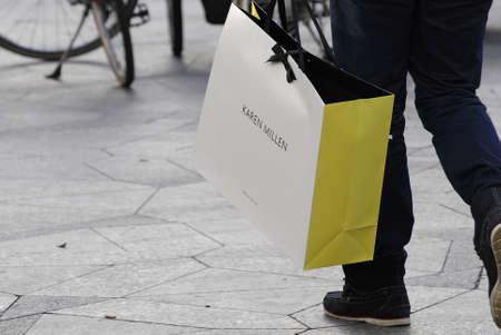 Copenhagen /Denmark-  17 November  2013   Consumer on early christmas shopping tour      Stock Photo - 23817426