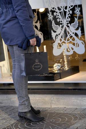 Copenhagen /Denmark-  17 November  2013   Consumer on early christmas shopping tour        Stock Photo - 23817428