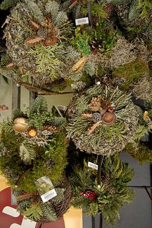 kastrup: Kastrup Denmark-  09 December  2013 _Christmas wreaths for graves for decoration in danish cemetaries