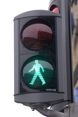 trafic: Kastrup Denmark-  13 December  2013  autu trafif anc pedestrain signal trafic lights sto and go