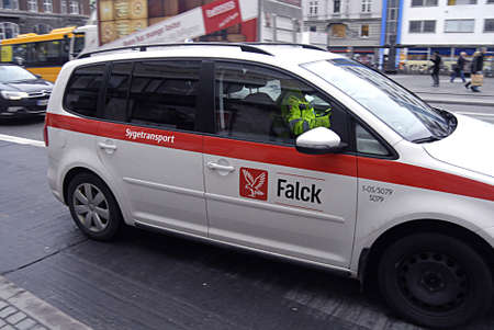 kastrup: Kastrup Denmark-  16 December  2013   _Falck sick transport auto         Editorial