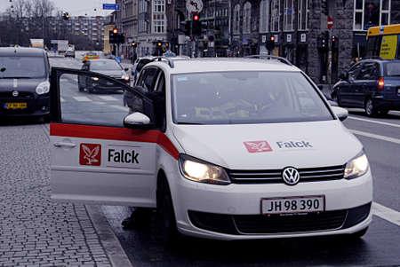 kastrup: Kastrup Denmark-  16 December  2013   _Falck sick transport auto