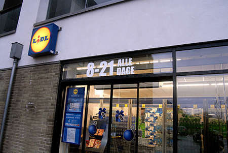 Kastrup Denmark-  21 December  2013 _German discount chain lidl  opens from early morning 8-21 late at evening 9 pm
