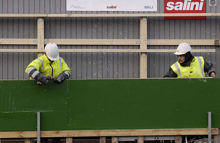 kastrup: Kastrup Denmark-  24 December  2013   _Construction workers          Editorial