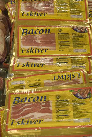 fakta: Kastrup Denmark-  27 December  2013 _Bacon pork is elling in danish food chains