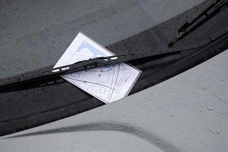 parking ticket: KASTRUPCOPENHAGEN Denmark-   2 January 2014   Parking ticket been place at frint window of parked car