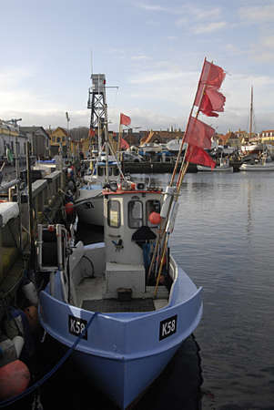 commercial fisheries: DRAGORCOPENHAGEN DENMARK-  09 February  2014 -Dragor(drag�r)small fishery habour  not much life on drag�r habour