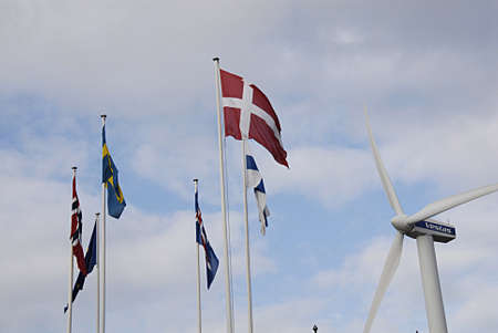 vestas: COPENHAGEN DENMARK-  13 February  2014  _Vestas wind turbine givés power to Bella Center