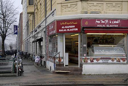 slaughter: COPENHAGEN DENMARK-Muslim Halal slaughter shop   28 February  2014         Editorial
