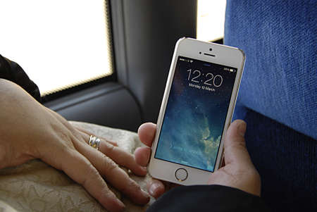 iphone5: COPENHAGEN DENMARK- IWoman showing Iphone5         10  Marchi 2014