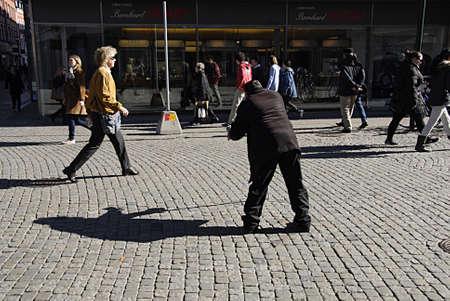 invaded: MALMÖMALMOSWEDENSVERIGE-Former eastern block person has invaded Sweden as begger  male begging on Malmlö pedestrain street          13 Marchi 2014